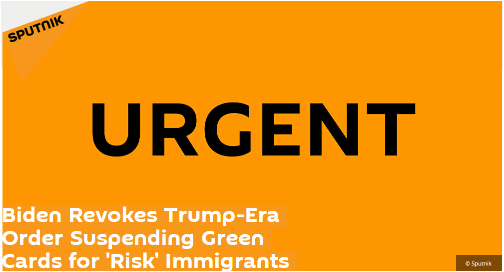 拜登刚刚签令 撤销特朗普有关移民的一项命令