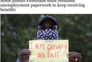 在国会延长失业救济金数周后,佛罗里达的失业人口在领取救济金时仍然面临障碍。