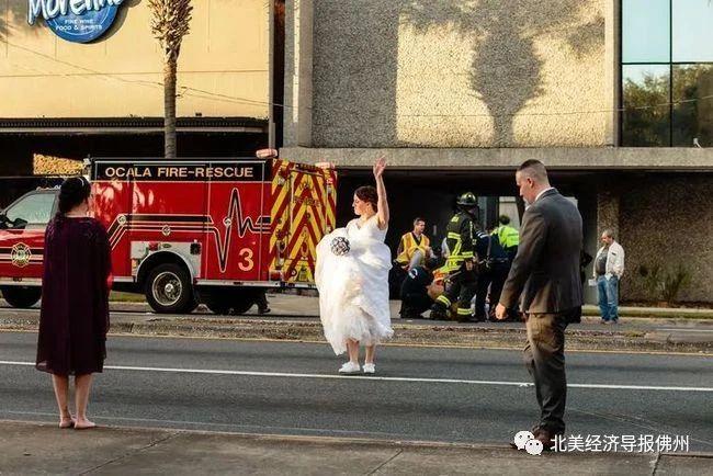 """最近,佛罗里达州马恩县警局MCSO在社交媒体官网上发布一张""""奇怪的婚纱照""""。"""