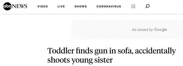 可怕!佛州3岁男孩朝2岁妹妹开枪,后者情况危急