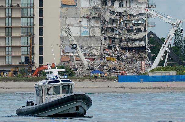 迈阿密公寓楼坍塌搜救行动因安全问题暂停