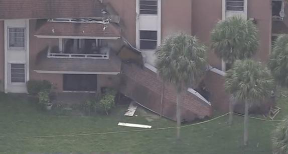 佛州迈阿密再现危楼 40天内两处屋顶坍塌