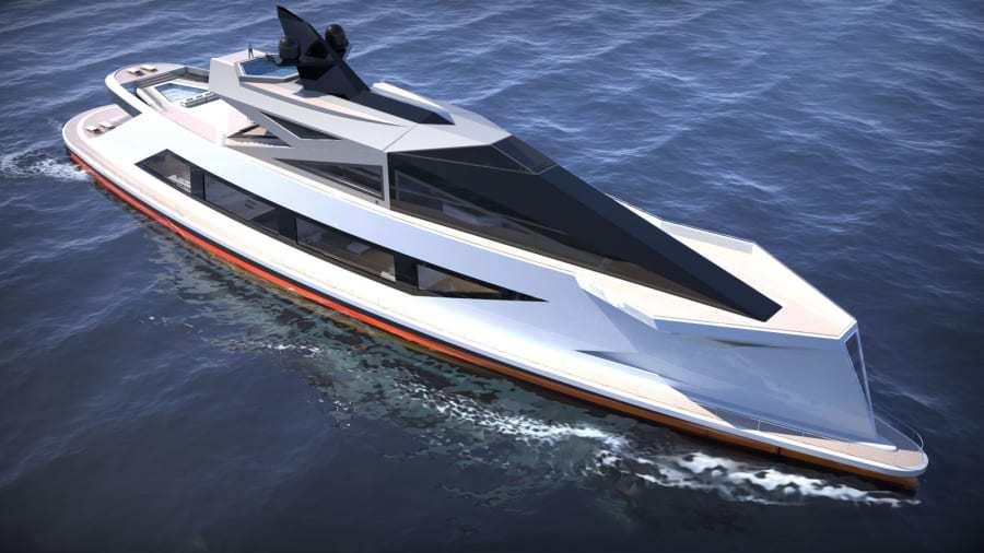 意式碳纤维超级游艇:造价22.6亿人民币,船底透明、自带船坞