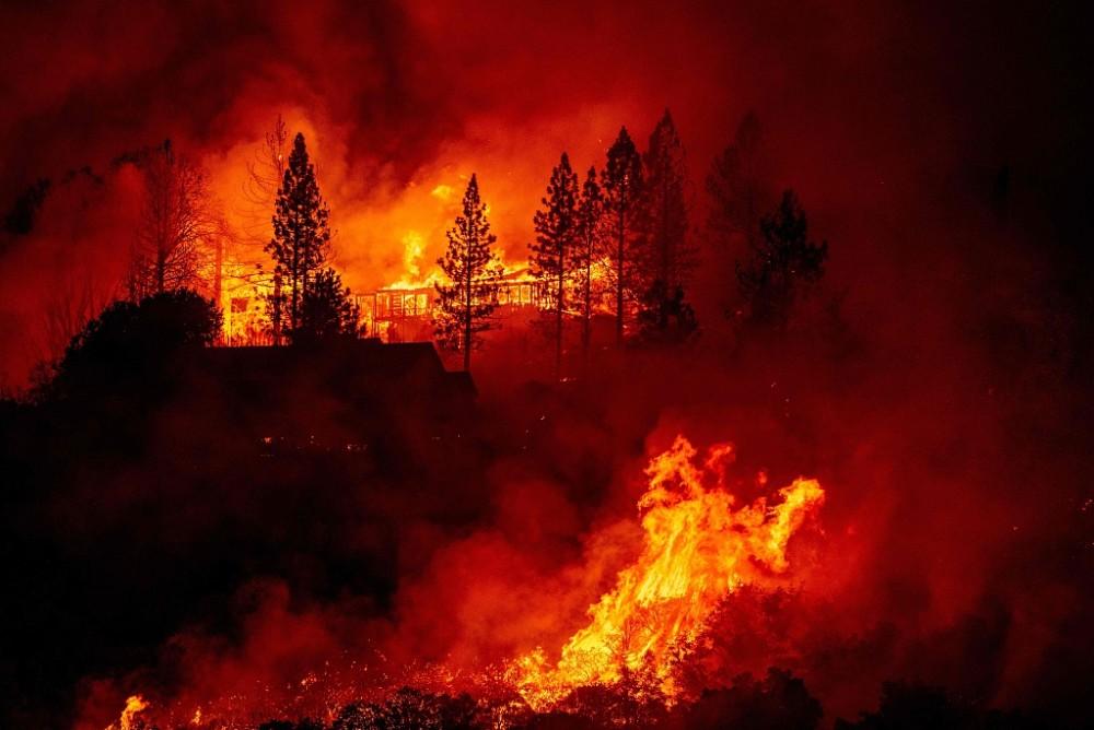 加州一女子烧水引发山火,燃烧面积超3000公顷