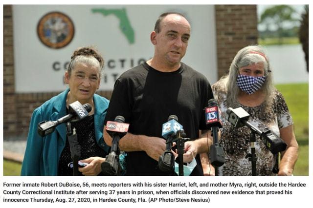 冤!佛州男子被错指强奸杀人坐牢37年,如今起诉当年警察和市政府